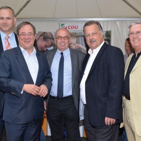 Stelldichein am Stand der CDU-Landtagsfraktion